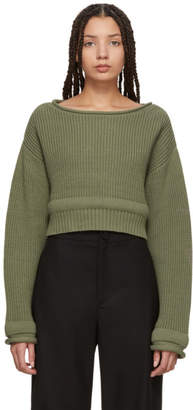 Alexander Wang Green Chunky Trim Sweater