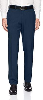 Kenneth Cole Reaction Men's Techni-Cole Mini Check Modern Fit Flat Front Dress Pant
