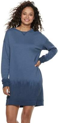 Mudd Juniors' French Terry Zip Sweatshirt Dress