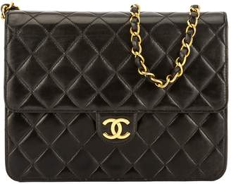 Chanel Black Quilted Lambskin Leather Chain Clutch (3755009)