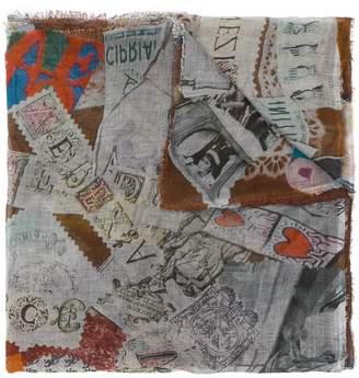 Faliero Sarti frayed hem printed scarf