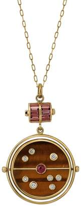 Retrouvaí Tigers Eye Grandfather Compass Necklace