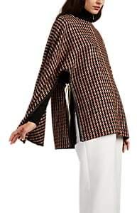 Derek Lam Women's Houndstooth Wool-Blend Poncho Jacket - Vicuna Multi