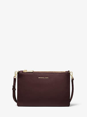 Michael Kors Large Pebbled Leather Double-Pouch Crossbody