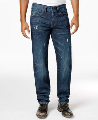 True Religion Men's Geno Flap-Pocket Relaxed Fit Jeans