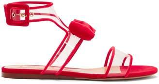 Dollybow bow-embellished velvet sandals