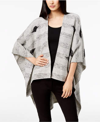 Eileen Fisher Organic Cotton Serape Shawl Cardigan