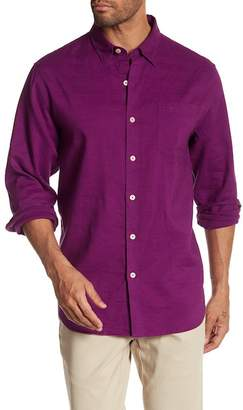 Tommy Bahama Woven Long Sleeve Regular Fit Shirt