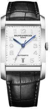 Baume & Mercier Hampton Stainless Steel& Alligator Automatic Strap Watch/Black