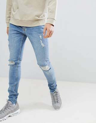 Criminal Damage skinny jeans in blue