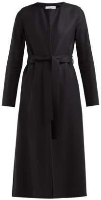 Harris Wharf London Collarless Belted Wool Felt Coat - Womens - Black