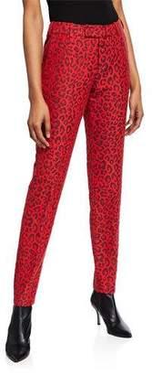 Zadig & Voltaire Prune Leopard-Print Pants