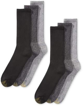 Gold Toe Men's 6-Pk. Harrington Extended Crew Socks