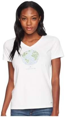 Life is Good Love Is Everywhere Crusher Vee Women's T Shirt