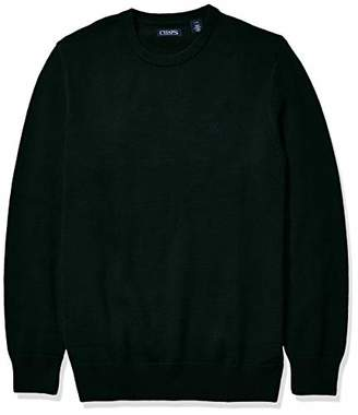 Chaps Men's Big and Tall Classic Fit Cotton Crewneck Sweater