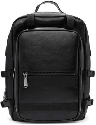 Balmain Black Finn Backpack