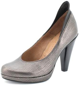 Hispanitas Pewter-Bronze Leather Pump