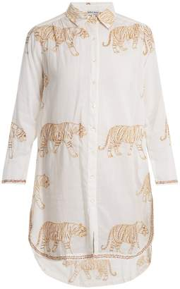 Juliet Dunn Tiger-print cotton shirt