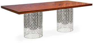 Jonathan Adler Nixon Dining Table, Rosewood/Nickel