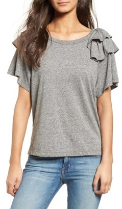 Women's Current/elliott Double Ruffle Tee $128 thestylecure.com