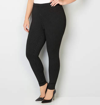 Avenue Striped Ponte Legging