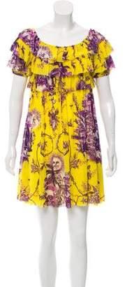 Jean Paul Gaultier Soleil Abstract print Mini Dress
