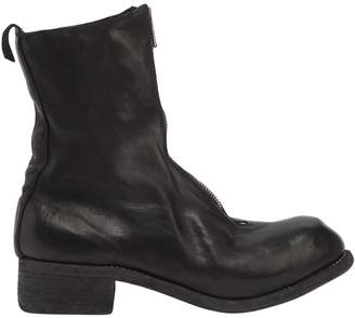 Pl2 Zipped Leather Boots