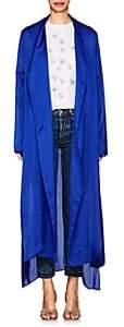 Juan Carlos Obando Women's Washed Satin Long Robe - Royal Blue
