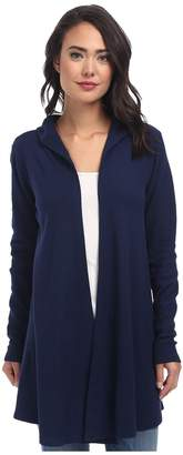 Allen Allen Hooded Open Cardigan Women's Sweater