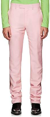 Calvin Klein Men's Striped Mohair-Wool Trousers - Pink