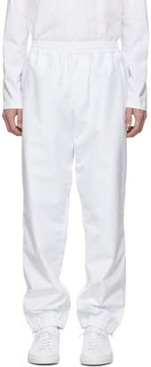Helmut Lang White Pull-On Track Pants