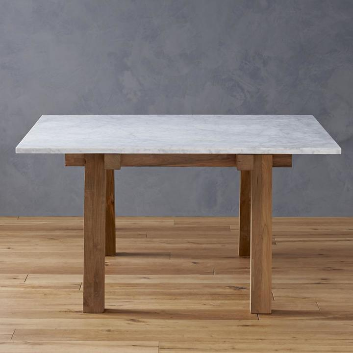 Crate & Barrel Riviera Rectangular White Top Dining Table