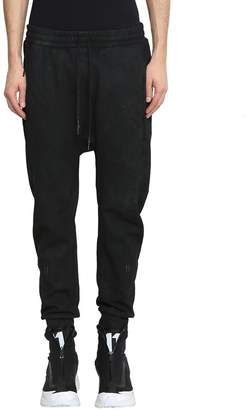 11 By Boris Bidjan Saberi Washed Black Cotton Sweatpants