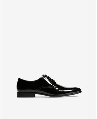 Express patent tuxedo shoes