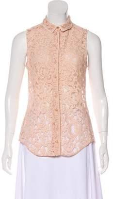 Victoria Beckham Sleeveless Lace Top