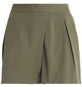 Halston Pleated Twill Shorts