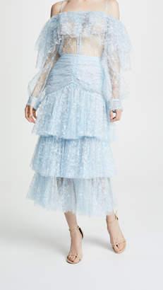 Rodarte Tiered Lace Skirt