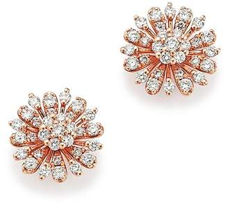 Bloomingdale's Diamond Flower Stud Earrings in 14K Rose Gold, 65 ct. t.w. - 100% Exclusive