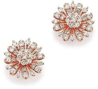 Bloomingdale's Diamond Flower Stud Earrings in 14K Rose Gold, 65 ct. t.w. - 100% Exclusive