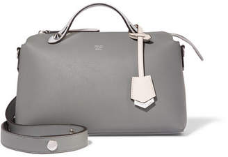 Fendi By The Way Small Leather Shoulder Bag - Gray green