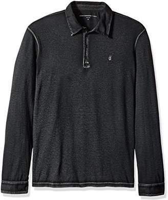 John Varvatos Men's Long Sleeved Polo AQP4B 053
