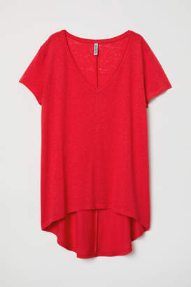 H&M V-neck Jersey Top - Red