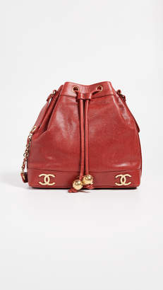Chanel What Goes Around Comes Around Caviar 3 CC Medium Bucket Bag