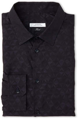 Versace Navy Trend Dress Shirt