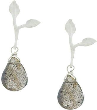 Wouters & Hendrix My favourite drop labradorite leaf earrings