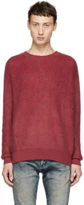 John Elliott Red Brushed Crewneck Sweater