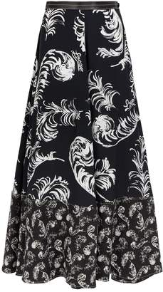 Loewe Feather Print Skirt