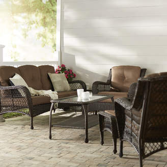 Co Darby Home Herrin 6 Piece Rattan Sofa Set with Cushions