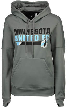 adidas Women's Minnesota United Fc Bottom Bar Slant Hoodie