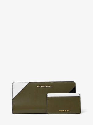 Michael Kors Large Tri-Color Leather Slim Wallet